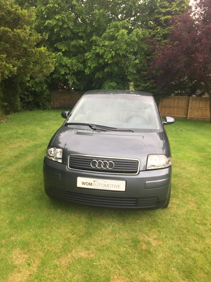 2005 audi a2 1 2 tdi dolphin grey rare low mileage uk converted. Black Bedroom Furniture Sets. Home Design Ideas
