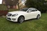 2011 Mercedes C250 Blue Eff AMG Sport, Pan Roof, Red Leather