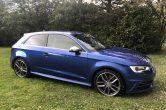 2016 (16) Audi S3 2.0 TFSI ( 300ps ) Quattro, NAV, 2016 Low Miles, Sepang Blue