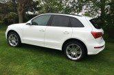2009 (59) Audi Q5 2.0TDI S Tronic Auto (170ps) Quattro S Line, 20″ Alloys, White