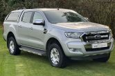 2018 (68) Ford Ranger 2.2TDCi Limited Double Cab D/C Pick Up Silver **NO VAT**
